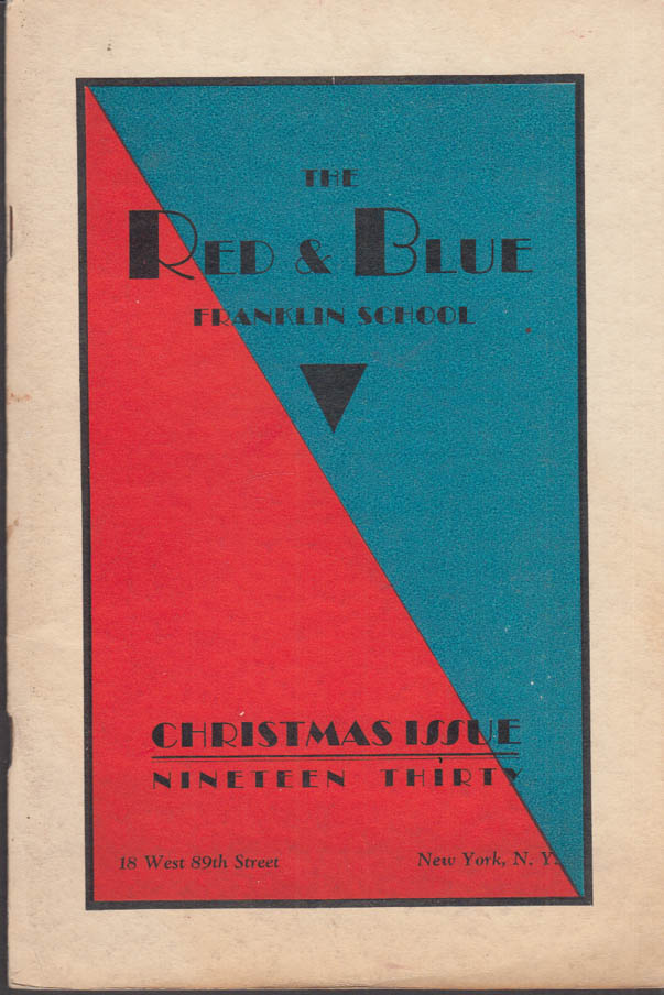 Image for Franklin School New York THE RED AND BLUE Christmas 1930 America's Cup +