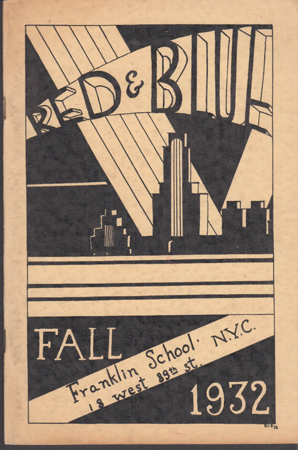 Image for Franklin School New York THE RED AND BLUE Fall 1932 Col Herbert Lehman +
