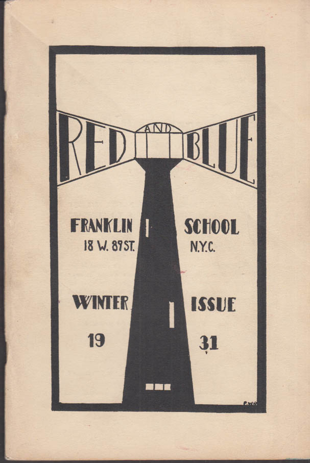 Image for Franklin School New York THE RED AND BLUE Winter 1931 Spaghetti Daydreaming +