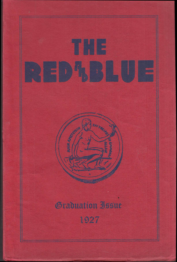 Image for Franklin School New York THE RED AND BLUE Graduation Issue 1927