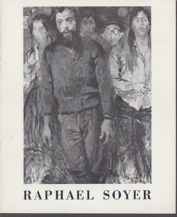 Image for Raphael Soyer Exhibit Catalog Forum Gallery New York 1967