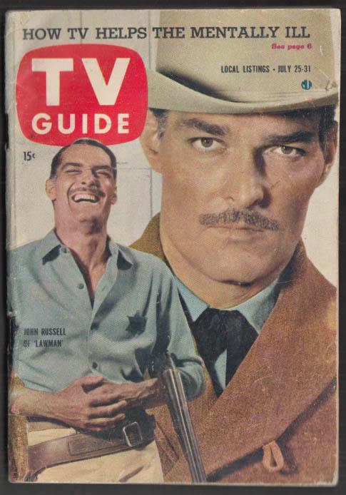 Image for TV GUIDE 7/25 1959 John Russell Steve McQueen Bennye Gatteys Golden Thimble