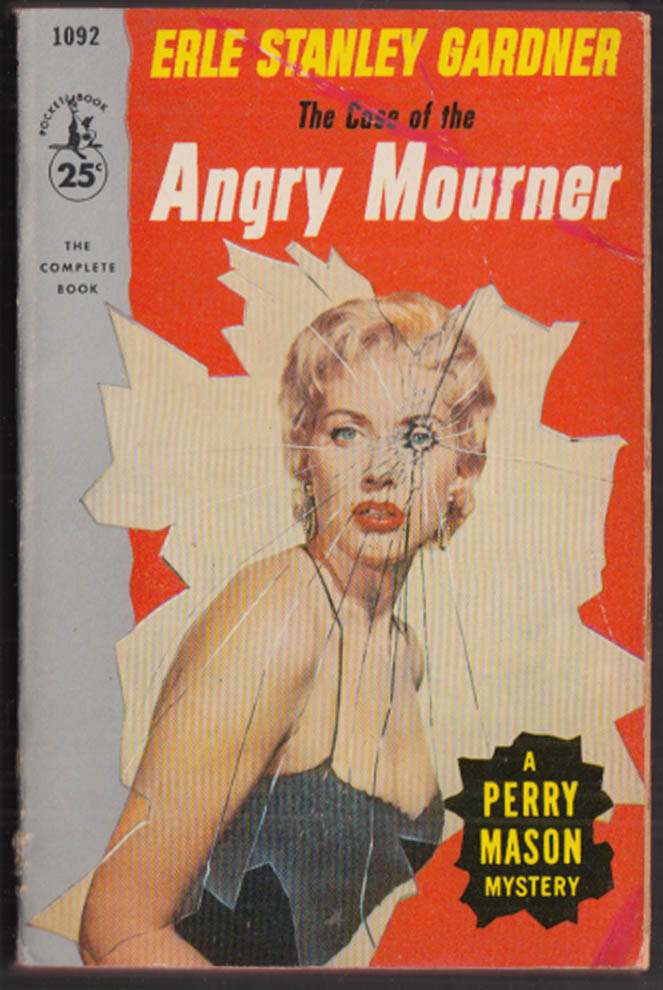 Erle Stanley Gardner: Case of the Angry Mother GGA pb blonde cleavage