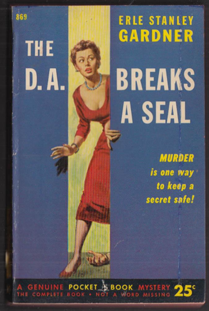 Erle Stanley Gardner: The D A Breaks the Seal GGA pb redhead cleavage in fear
