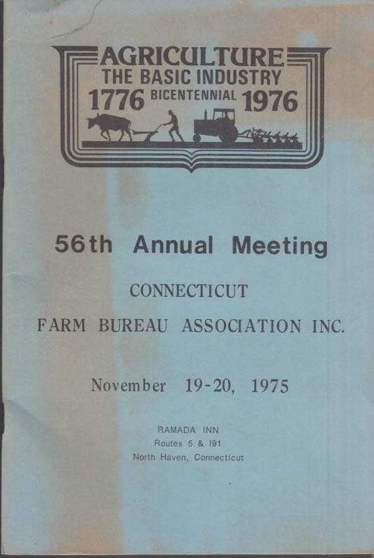 Connecticut Farm Bureau Assn Annual Meeting Program 1975 North Haven