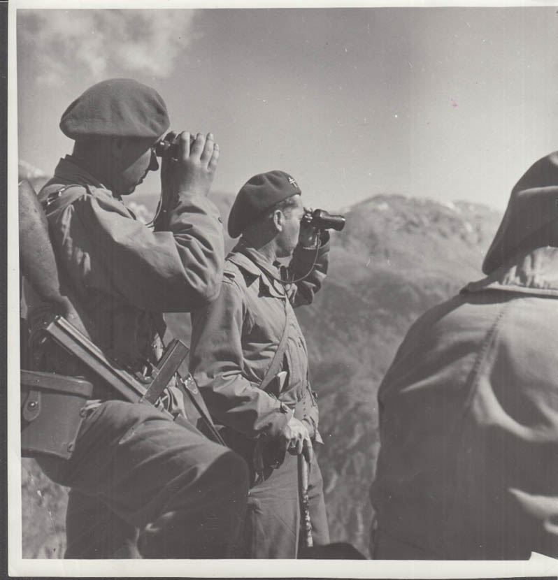 French Army in Alps spotting German military positions photograph #3 1944-45
