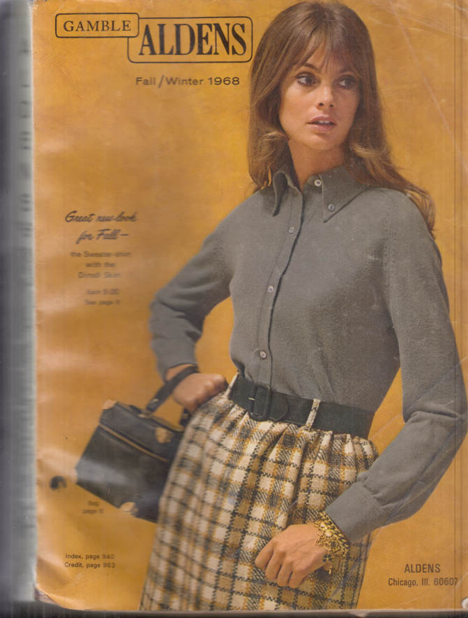 ALDENS Fall-Winter 1968 Catalog lingerie cycles sports guns music pool table +