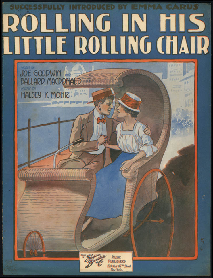 Rolling Along in His Little Rolling Chair sheet music 1917 Atlantic City