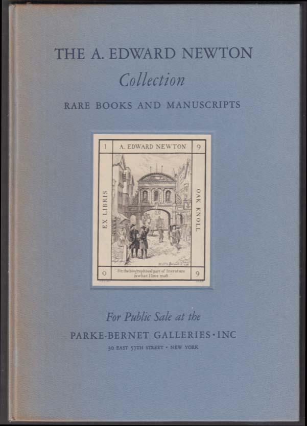 A Edward Newton Collection Rare Books Manuscripts prospectus Parke-Bernet 1941