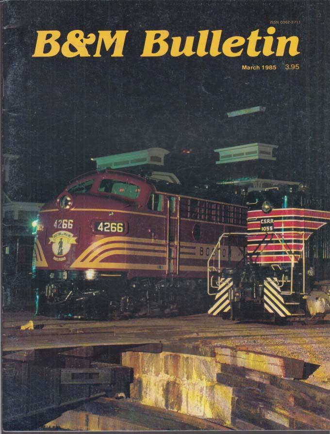 Image for Boston & Maine RR B&M BULLETIN 3 1985 Selkirk; Budd Cars; Sluggo Nancy & Fritz