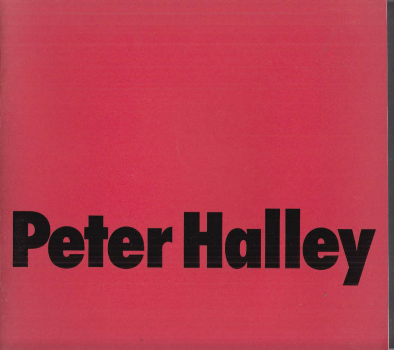 Image for Peter Halley art exhibit catalog 1989 Museum Haus Esters Krefeld