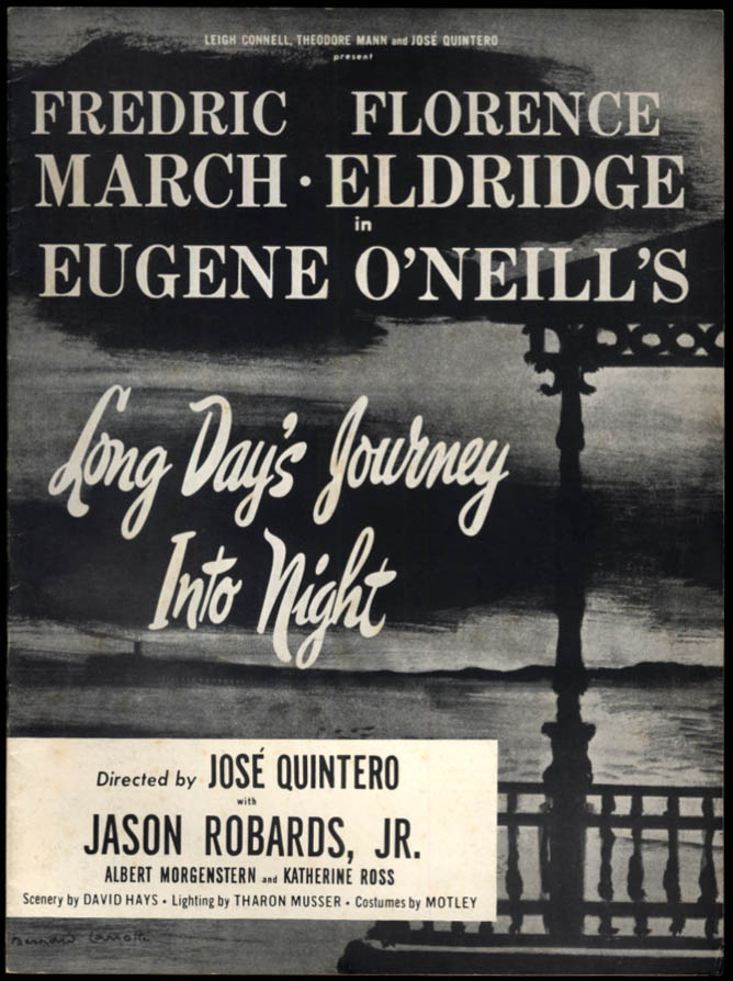 Image for Long Day's Journey Into Night souvenir theater program 1958 Fredric March +