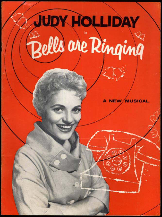 Image for Bells Are Ringing souvenir theater program 1957 Judy Holliday Jean Stapleton ++