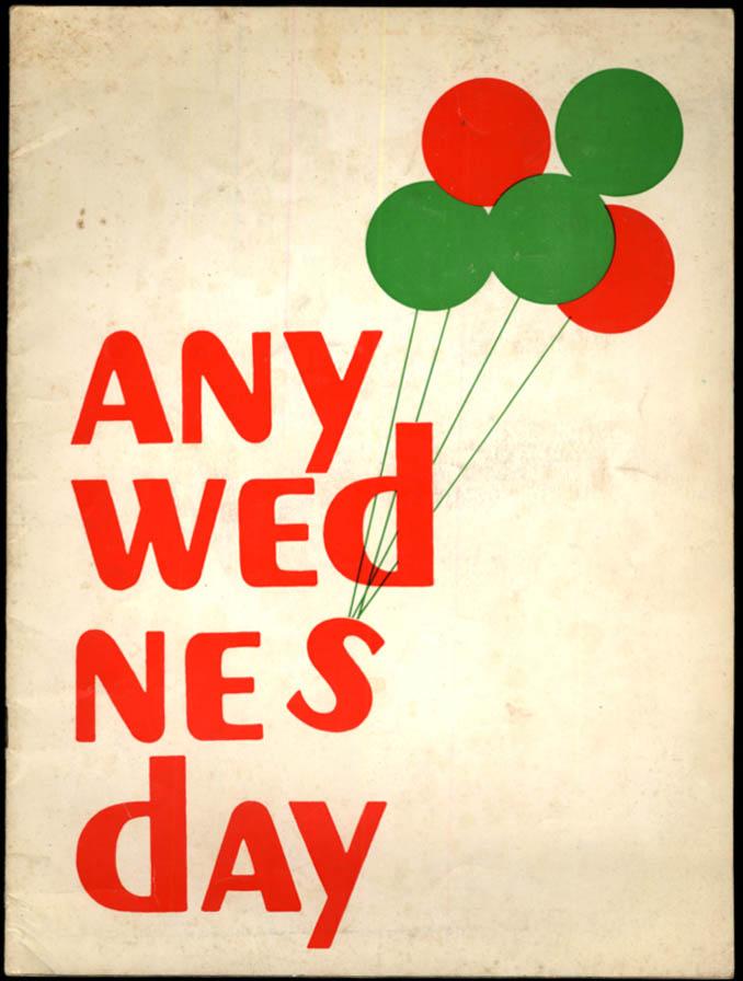 Image for Any Wednesday souvenir theater program 1964 Sandy Dennis Don Porter Gene Hackman