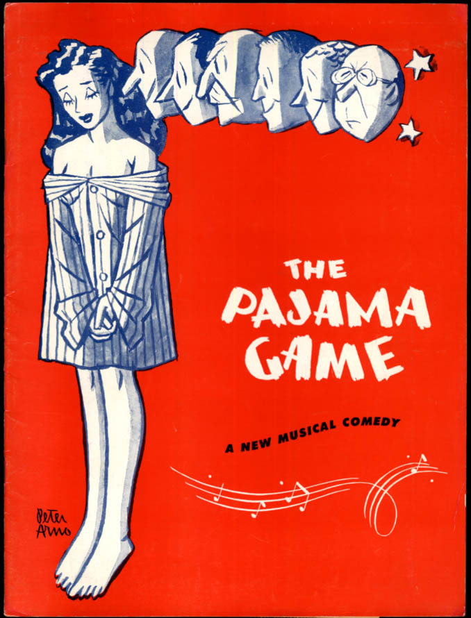 Image for The Pajama Game theater souvenir program 1955 John Raitt Janis Paige Eddie Foy