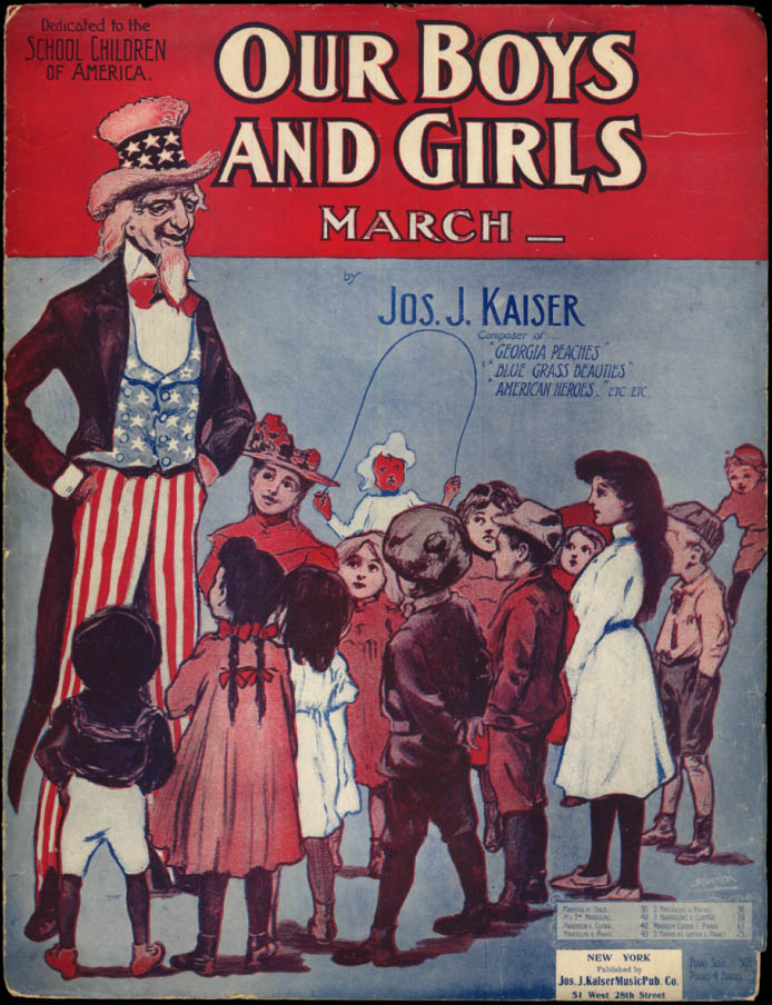 Our Boys And Girls March sheet music Uncle Sam 1903
