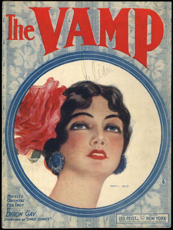 The Vamp sheet music Henry Hutt pretty girl 1919