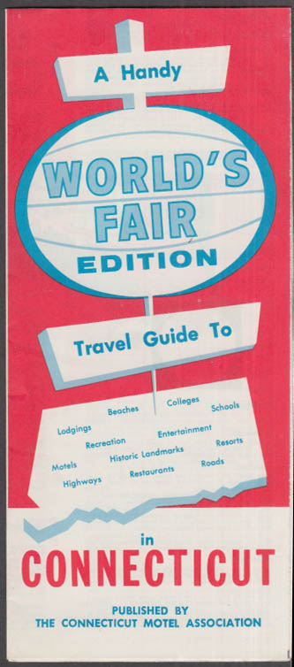 Image for New York World's Fair Travel Guide to Connecticut 1964-1965