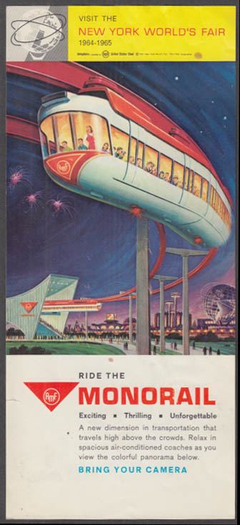 Image for Ride the AMF Monorail at the New York World's Fair flyer 1964-65