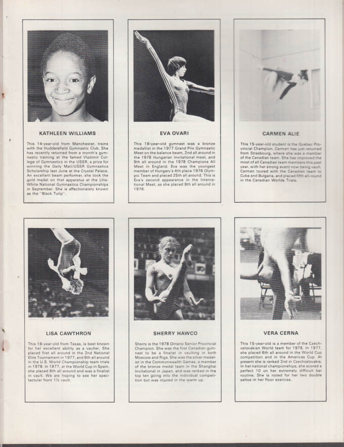 Image for Coca-Cola Ltd Ontario Cup International Gymnastics Competition Program 1978