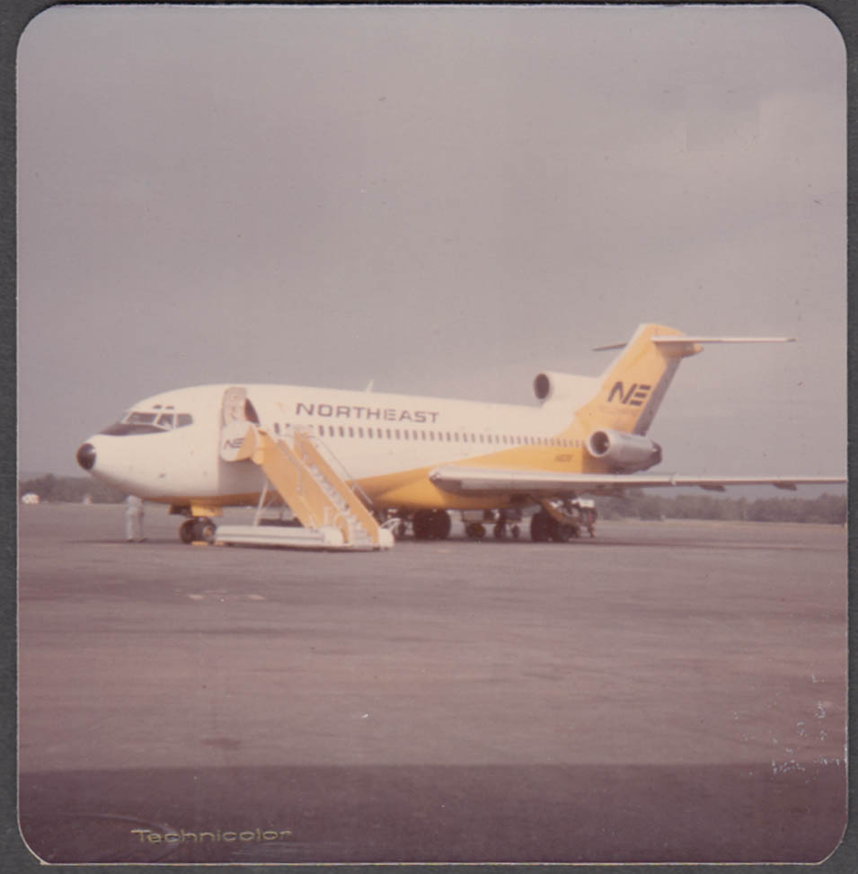 Image for Northeast Airlines Boeing 727 ready to board passengers color snapshot 1970s