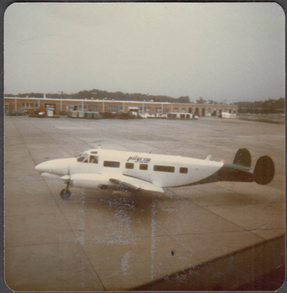 Image for Pilgrim Airlines Volpair Turboliner on tarmac color snapshot photo 1960s
