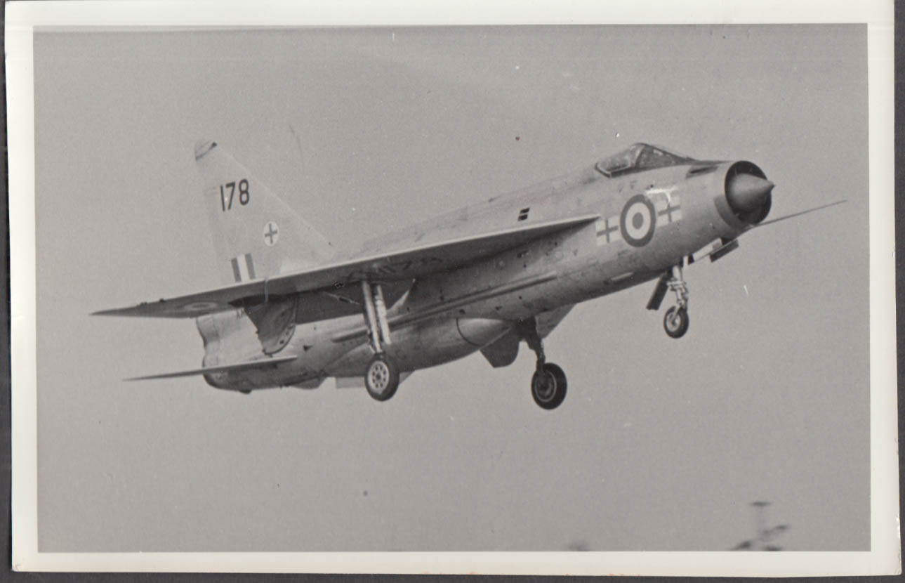 Image for RAF English Electric Lightning F.1 178 taking off photo 1970s