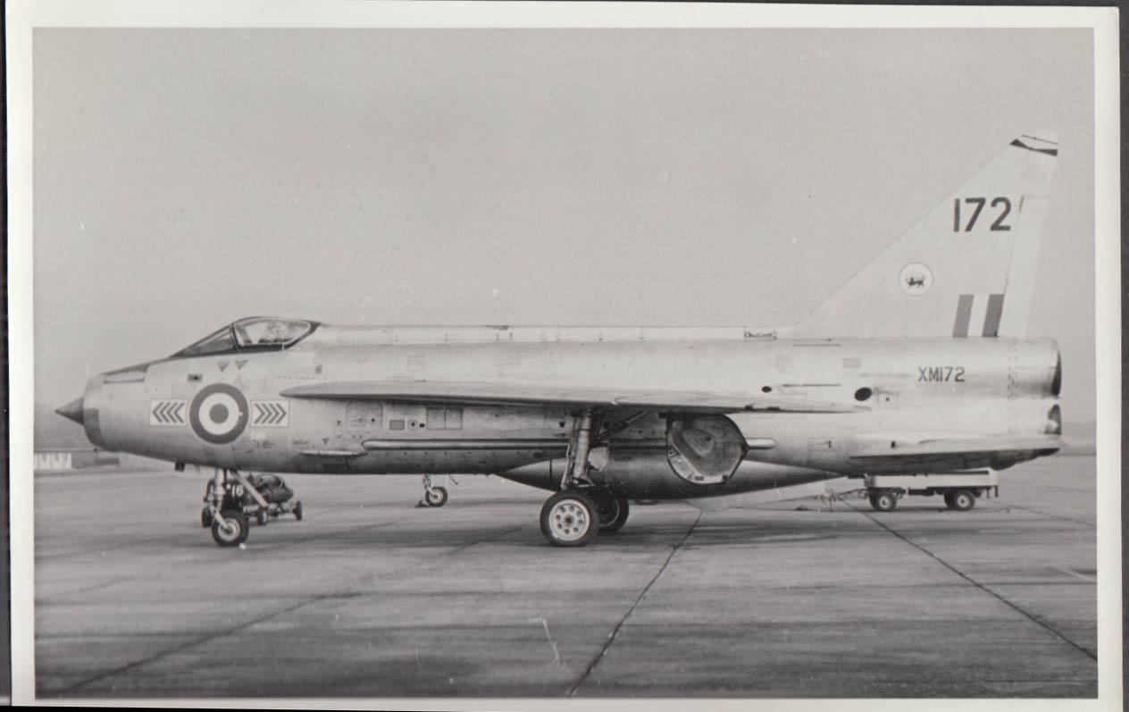 Image for RAF English Electric Lightning F.1 XM172 profile photo 1970s