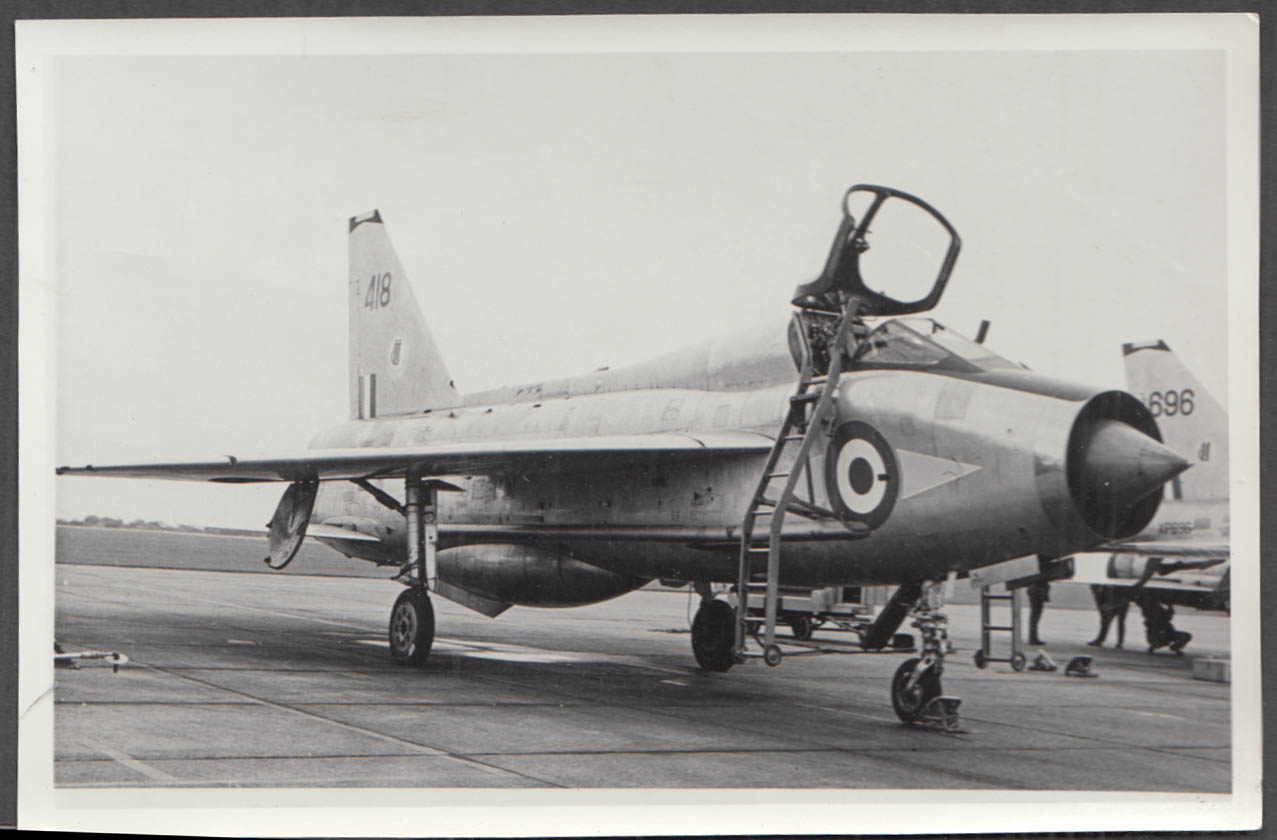 Image for RAF English Electric Lightning F.1 418 cockpit open photo 1970s