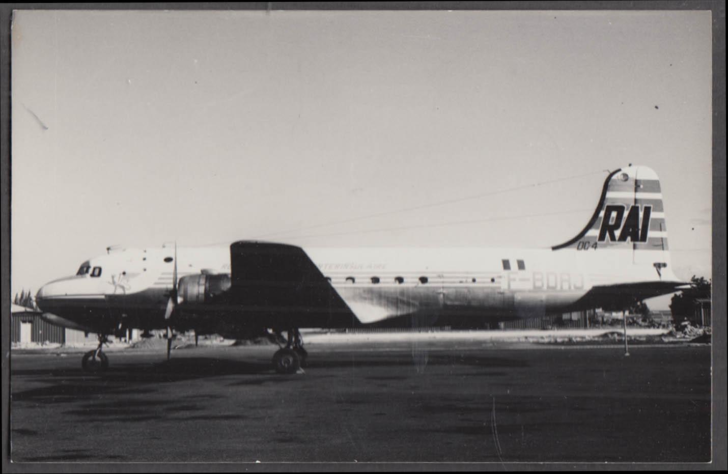Image for RAI Airlines Douglas DC-4 F-BDRJ tarmac photo 1969