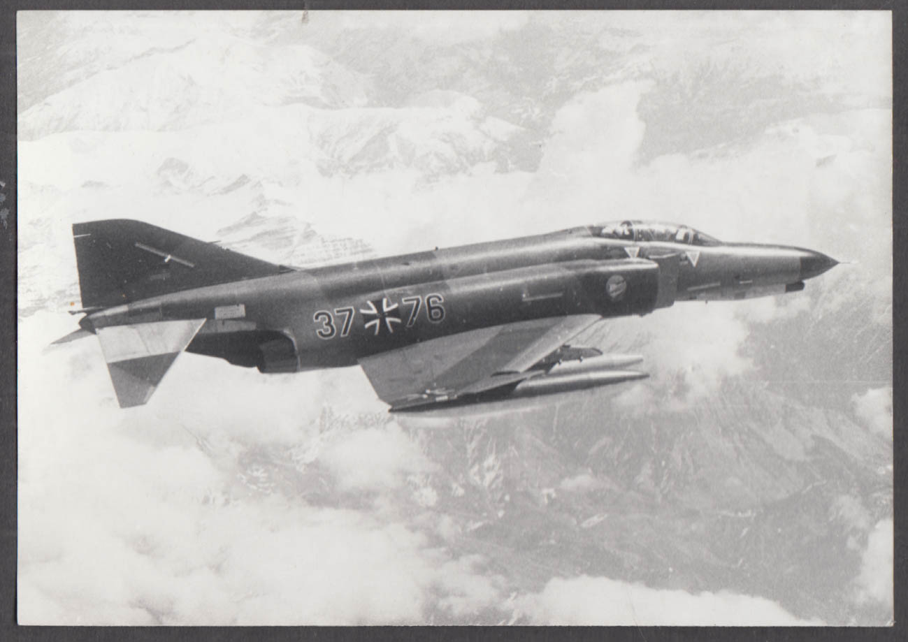 Image for German Air Force McDonnell Douglas F-4 Phantom 37 76 in flight photo 1970s