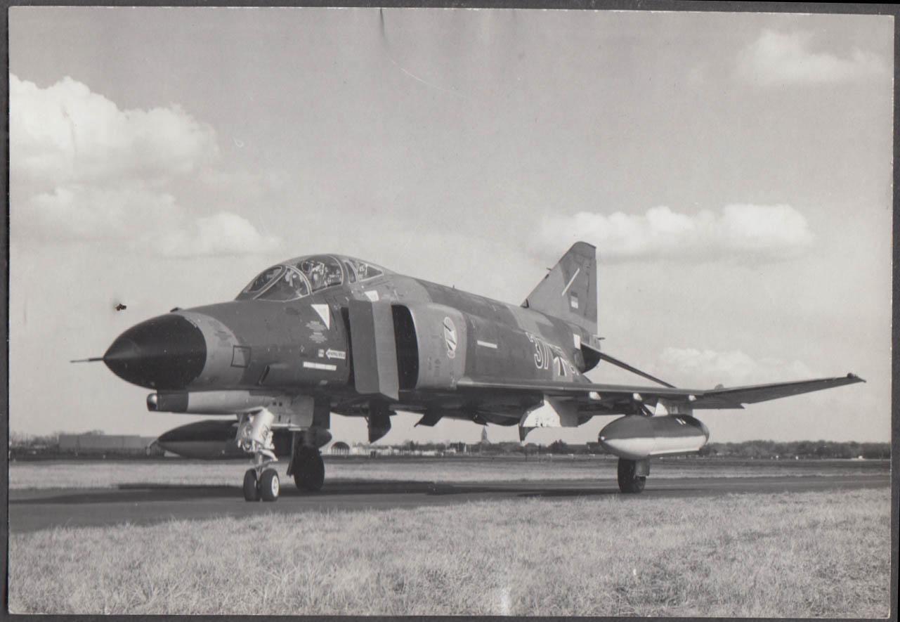 Image for German Air Force McDonnell Douglas F-4 Phantom tarmac photo 1970s