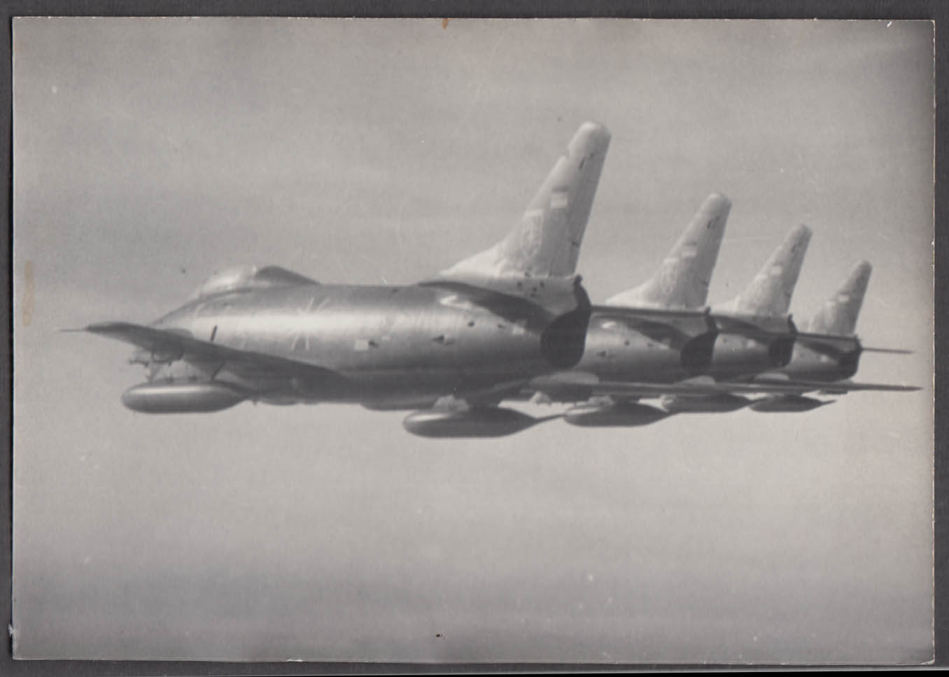 Image for German Air Force Canadair Sabre jet formation of 4 photo ca 1960s