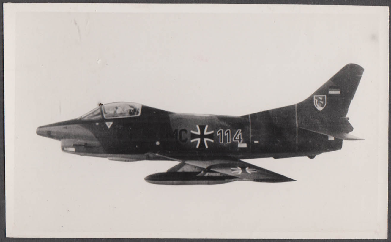 Image for West German Air Force Fiat G.91 Trainer Jet MC 114 in flight photo 1970s
