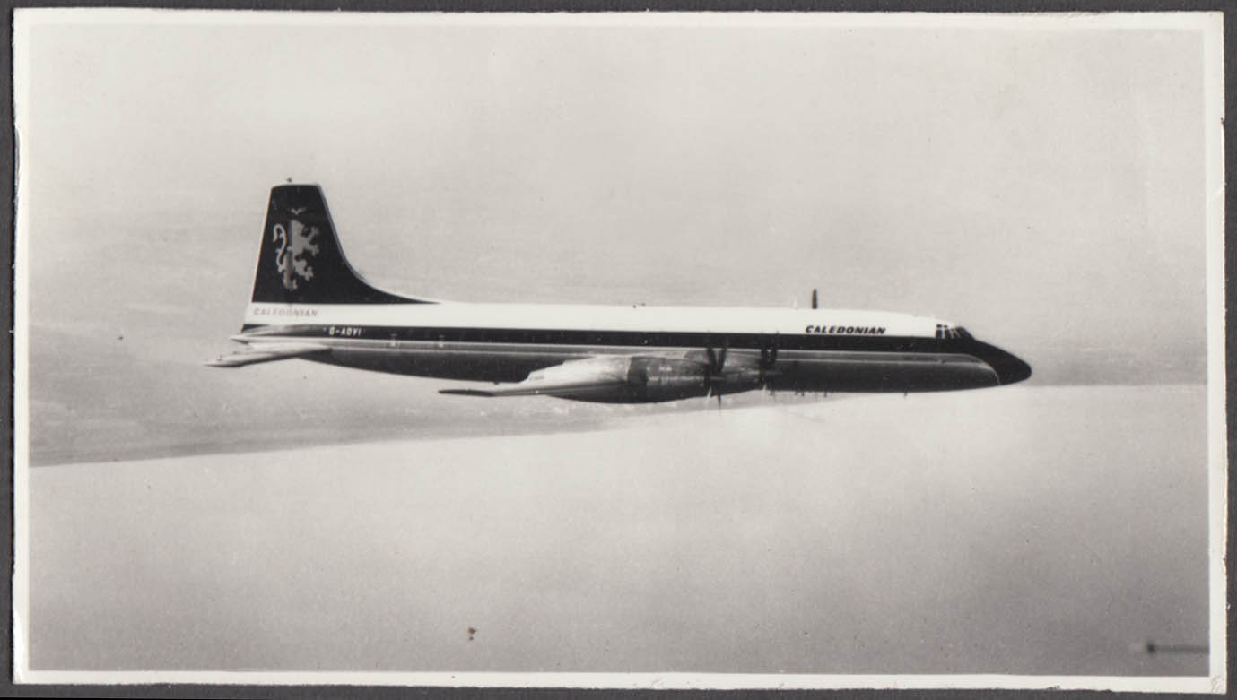 Image for Caledonian Airways Bristol Britannia G-AOVI in-flight photo 1960s