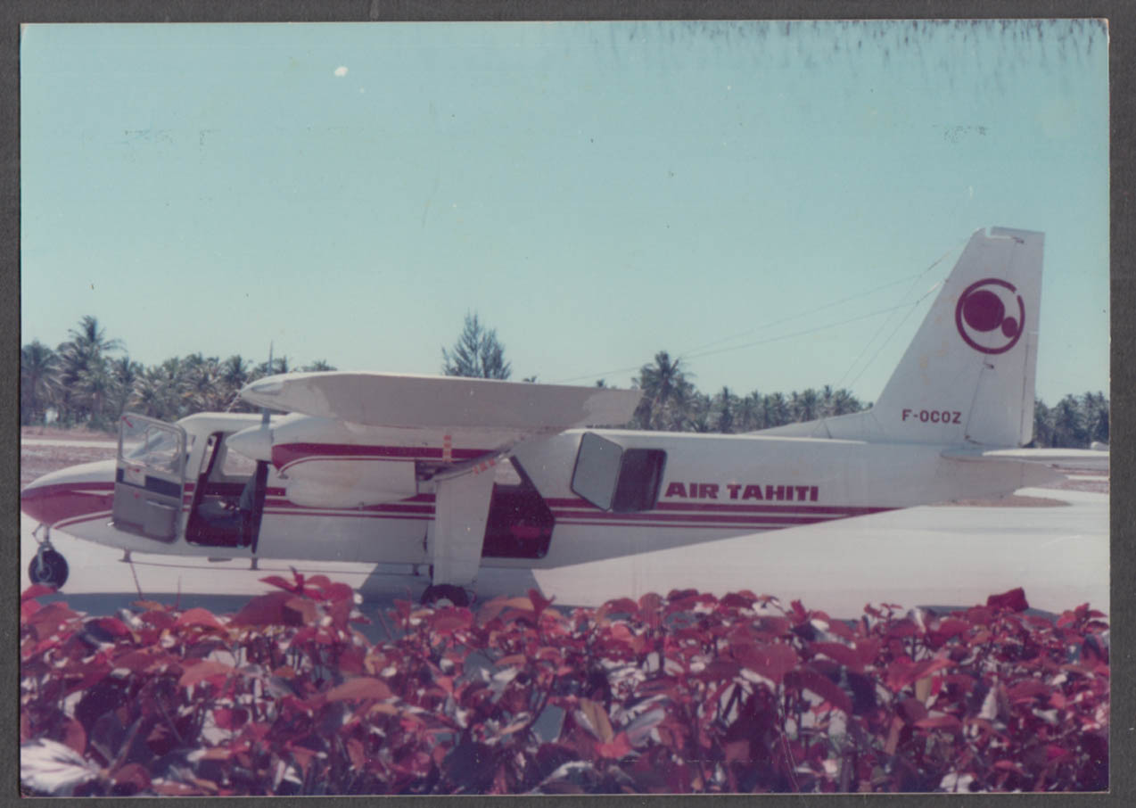 Image for Air Tahiti Britten-Norman BN-2A-8 Islander F-OCOZ color photo 1970s
