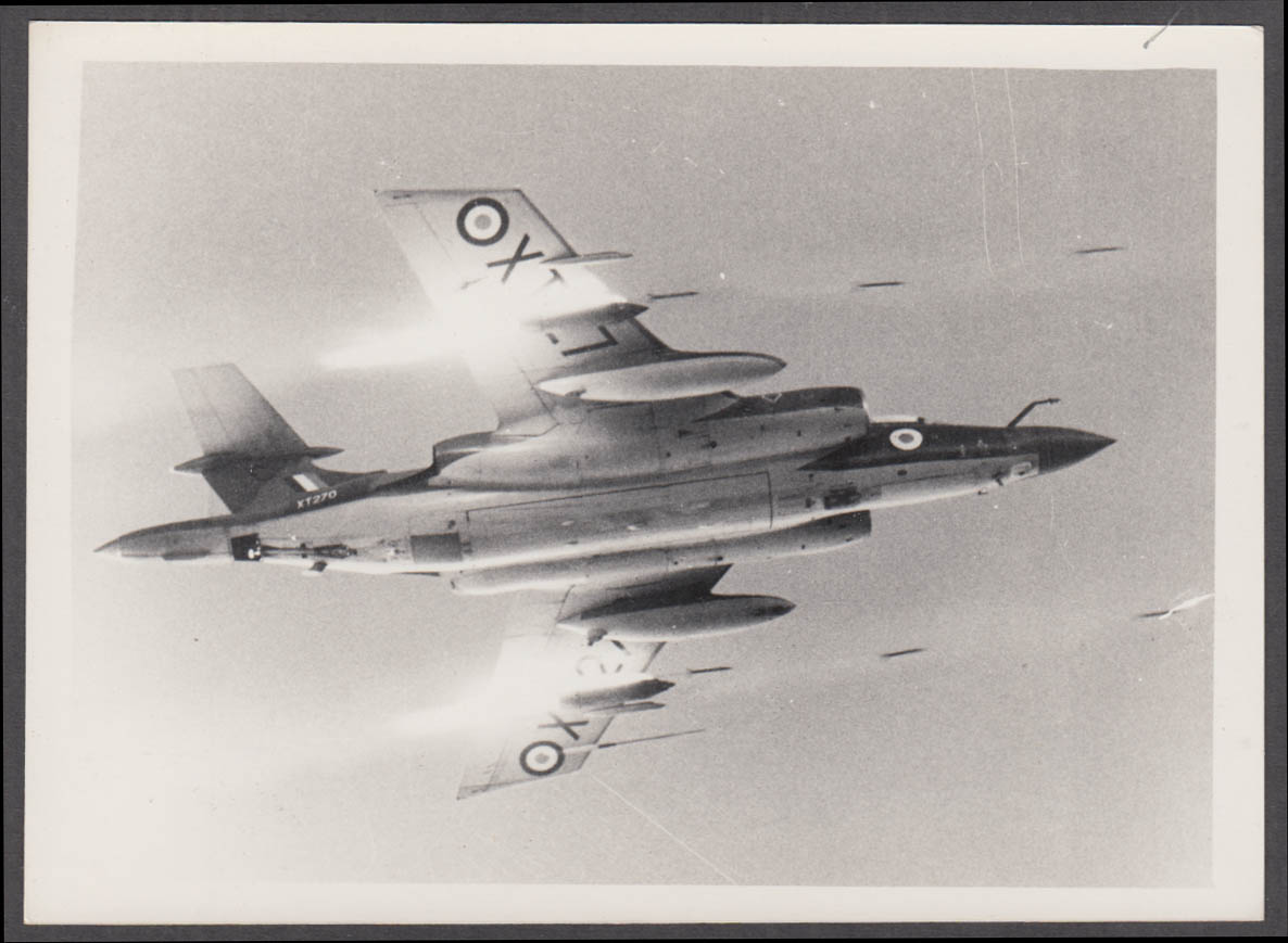 Image for RAF Hawker Siddeley Buccaneer S.2B firing rockets photo ca 1960s