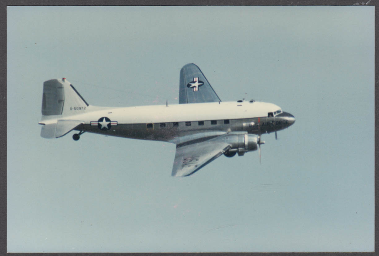 Image for United States Air Force Douglas C-47 Skytrain O-50972 color photo DC-3