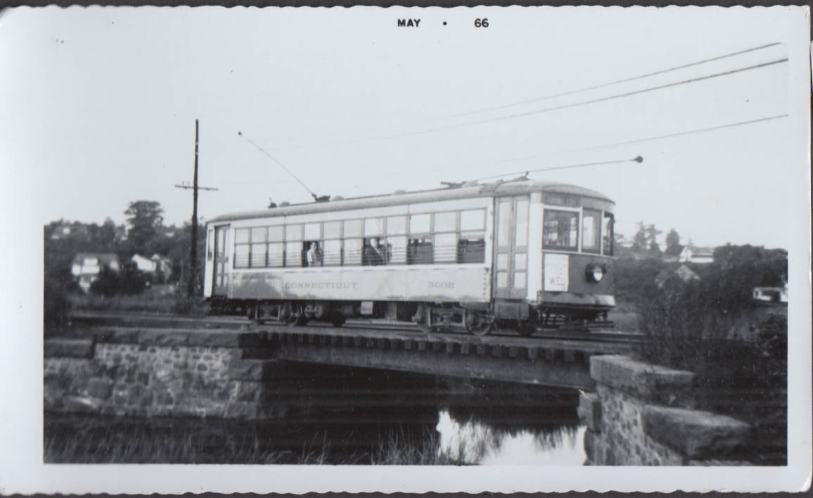 Image for Connecticut Company streetcar #3002 Torrington-West Winsted Line photograph