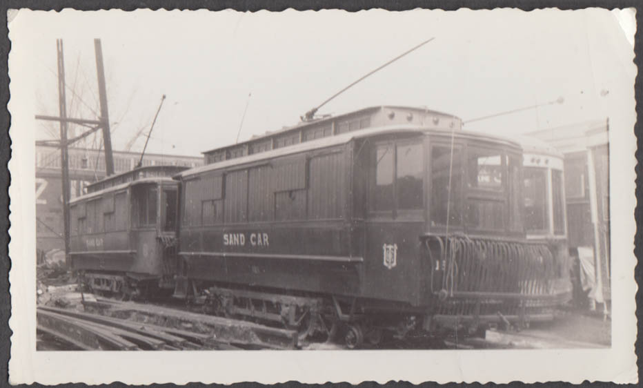 Image for United Transit Street Railway sand cars photograph