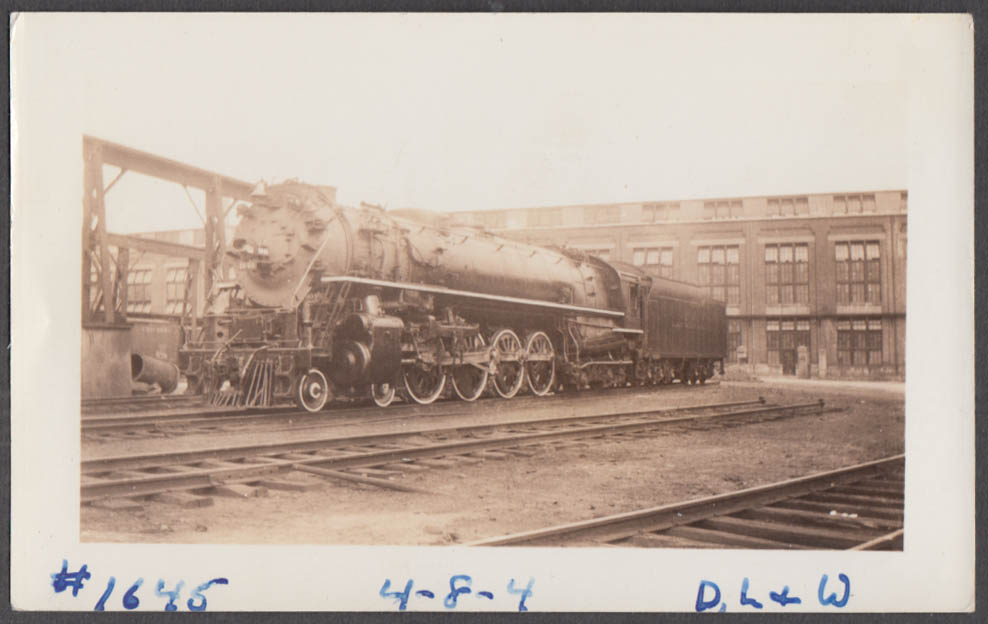Image for Delaware, Lackawanna & Western Railroad 4-8-4 #1645 Scranton PA photograph 1937
