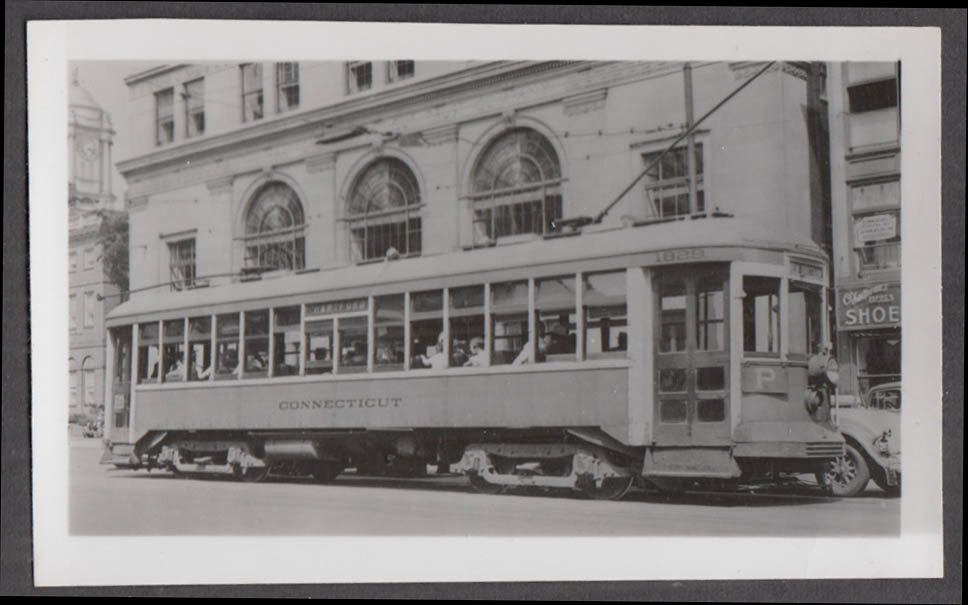 Image for Connecticut Company streetcar #1829 Hartford-New Britain Line photograph 1930s