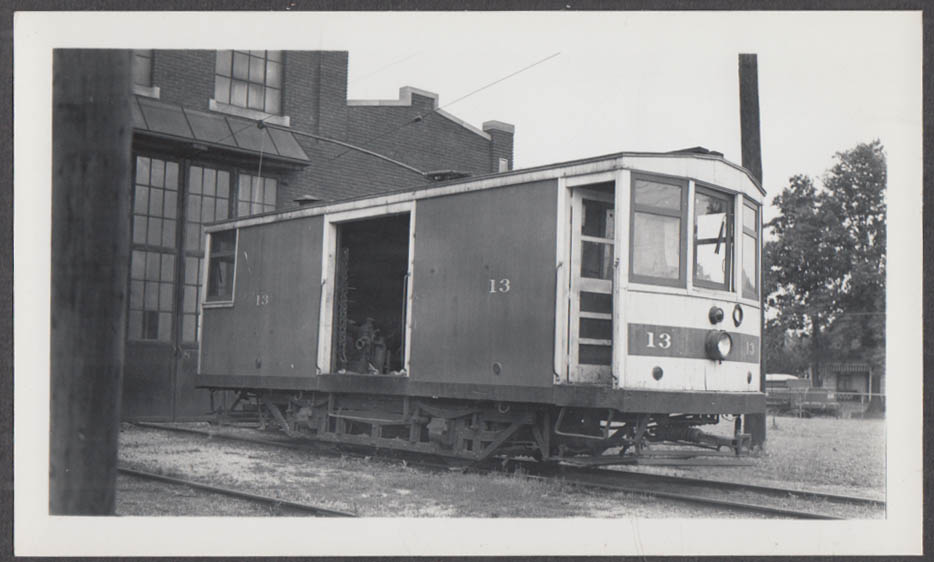 Image for Indiana Service Corporation Work Car #13 Fort Wayne Shops photograph 1937