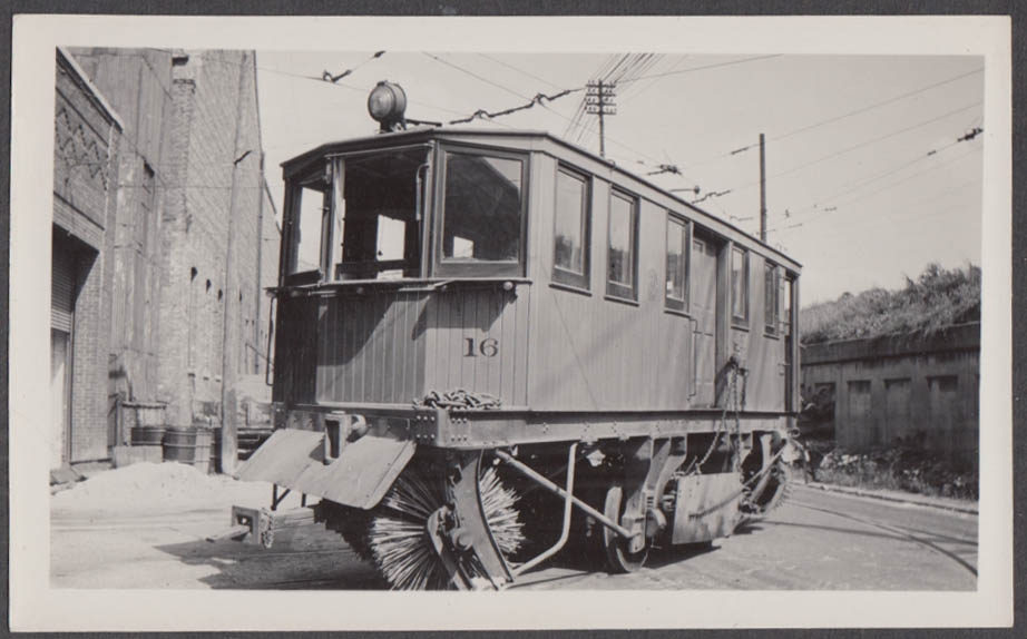 Image for Chicago & West Towns Railway Sweeper Car #16 Lake Street Barn photograph 1938