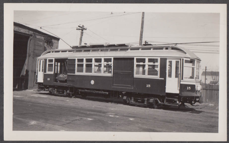 Image for Chicago & West Towns Railway Suburban Car #15 at Proviso Barn photograph 1940