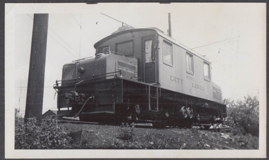 Image for City Lines of West Virginia locomotive Parkersburg WV photograph 1947
