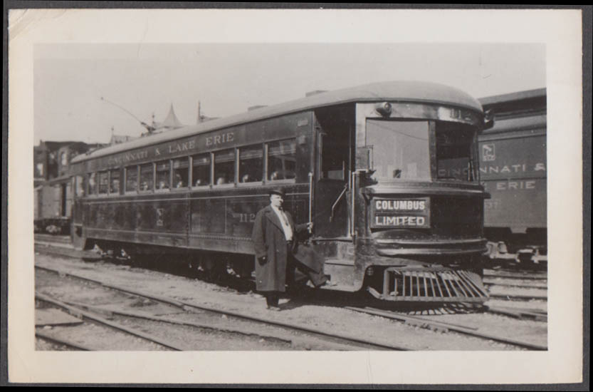 Image for Cincinnati & Lake Erie Raiload Columbus Limited #112 photograph ca 1920s