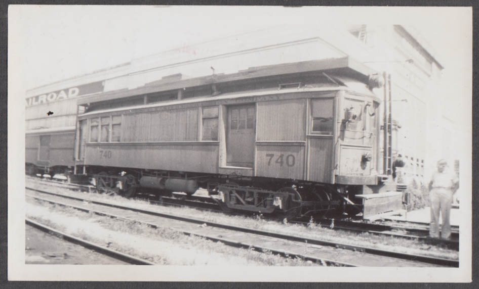 Image for Indianapolis Columbus & Eastern Line Car #740 at Moraine OH photograph 1937