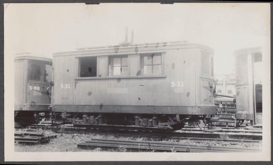 Image for Cincinnati Street Railway Work Car #S-31 at Cincinnati photograph 1941