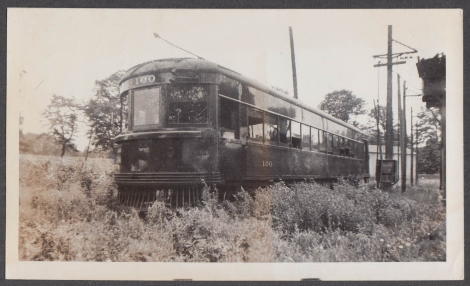 Image for Cincinnati & Lake Erie Railroad Car #100 at Cincinnati photograph 1937